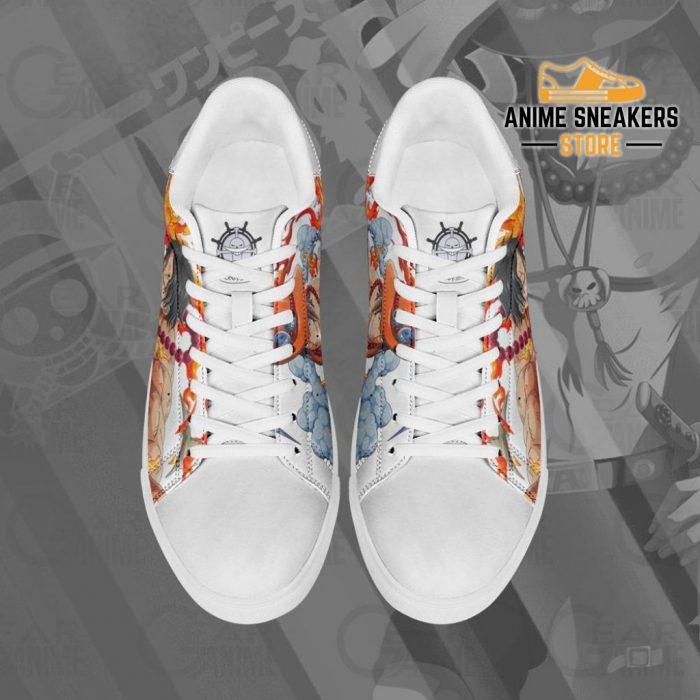 Portgas D Ace Skate Shoes One Piece Custom Anime