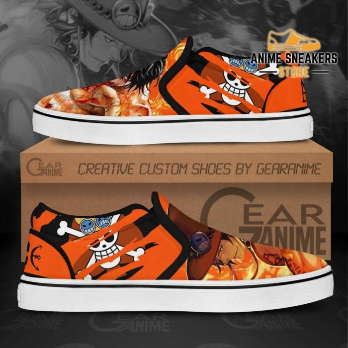 Portgas D Ace Slip On Shoes One Piece Custom Anime Slip-On