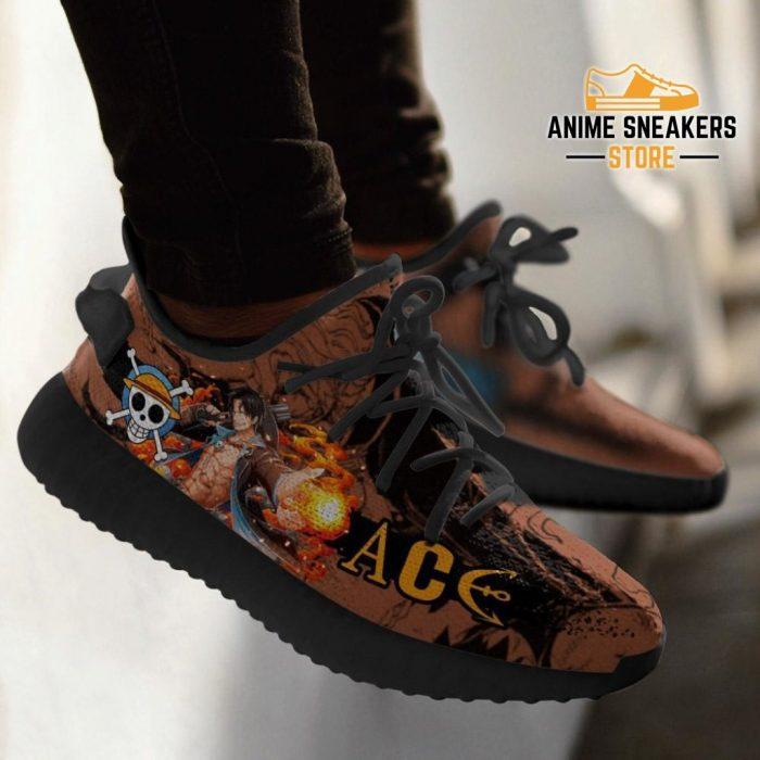 Portgas D. Ace Yeezy Shoes One Piece Anime Fan Gift Tt04