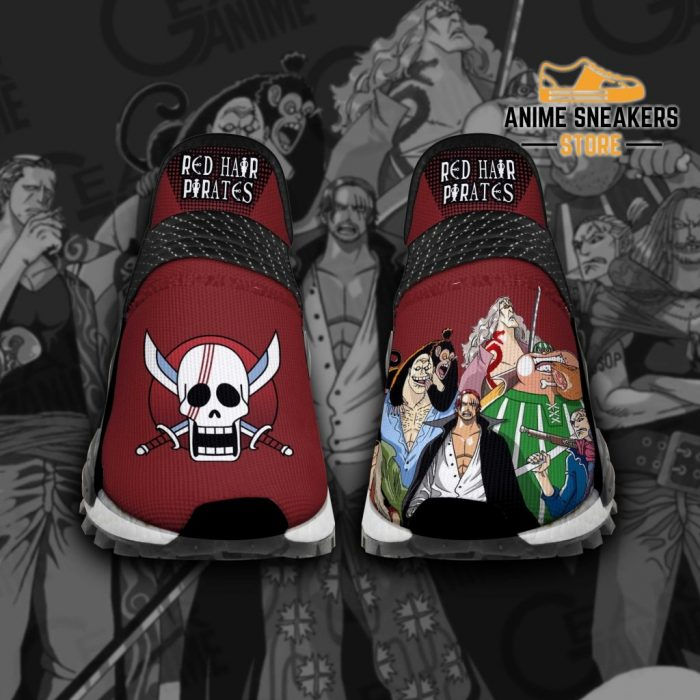 Red Hair Pirates Shoes One Piece Custom Anime Tt12 Men / Us6 Nmd
