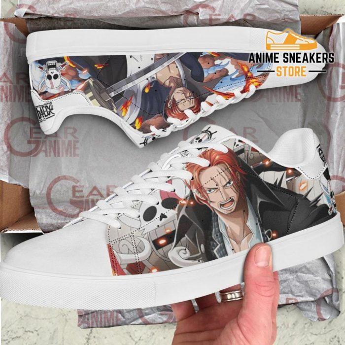 Red Hair Shanks Skate Shoes One Piece Custom Anime