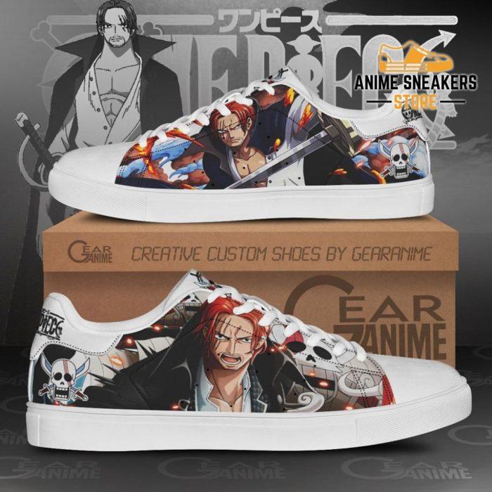 Red Hair Shanks Skate Shoes One Piece Custom Anime Men / Us6