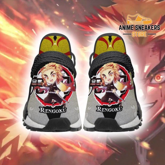 Rengoku Shoes Custom Demon Slayer Anime Sneakers Men / Us6 Nmd