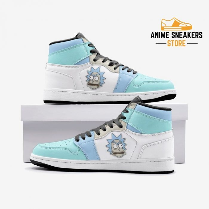 Rick Got Angry And Morty Custom J-Force Shoes 3 / White Mens
