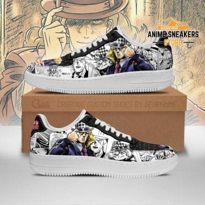 Robert Speedwagon Sneakers Manga Style Jojos Anime Shoes Fan Gift Pt06 Men / Us6.5 Air Force