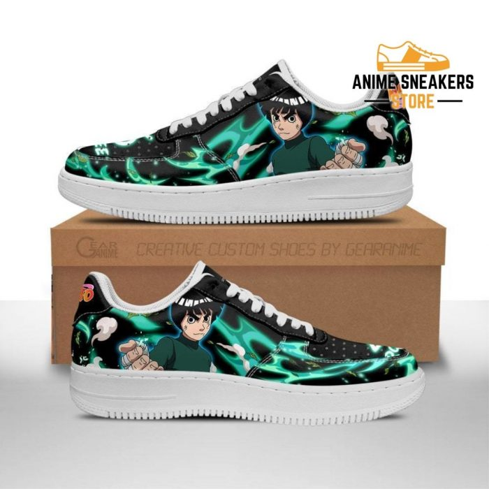 Rock Lee Sneakers Custom Naruto Anime Shoes Leather Men / Us6.5 Air Force