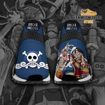 Roger Pirates Shoes One Piece Custom Anime Tt12 Men / Us6 Nmd