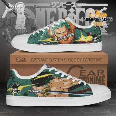 Roronoa Zoro Skate Shoes One Piece Custom Anime Men / Us6