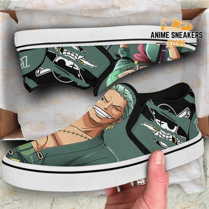 Roronoa Zoro Slip On Shoes One Piece Custom Anime Slip-On
