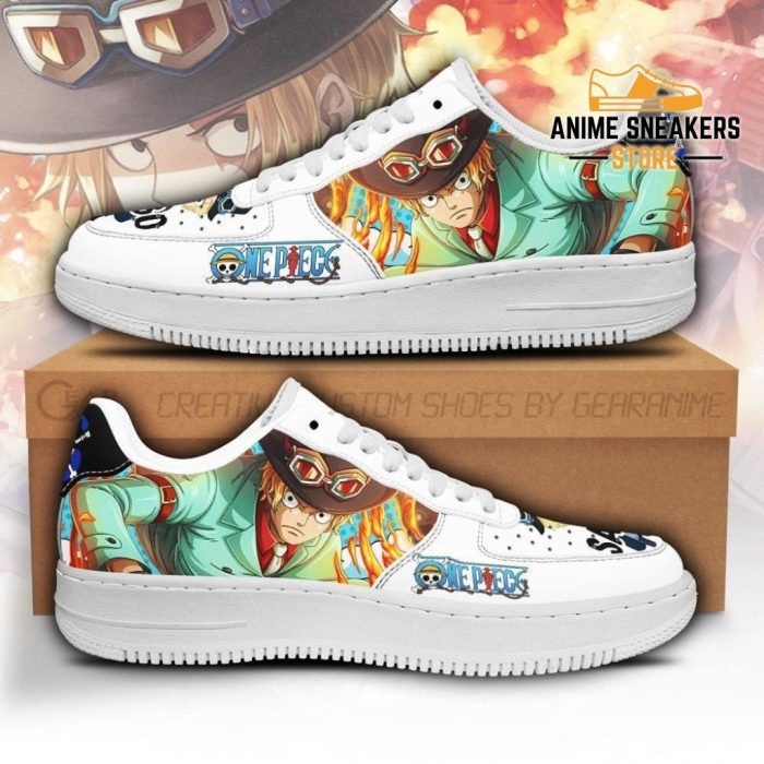 Sabo Sneakers Custom One Piece Anime Shoes Fan Pt04 Men / Us6.5 Air Force