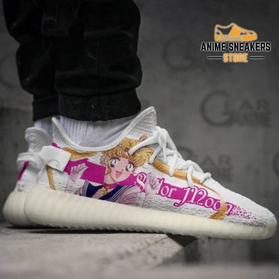 Sailor Moon Shoes Pink Custom Anime Sneakers Tt10 Yeezy