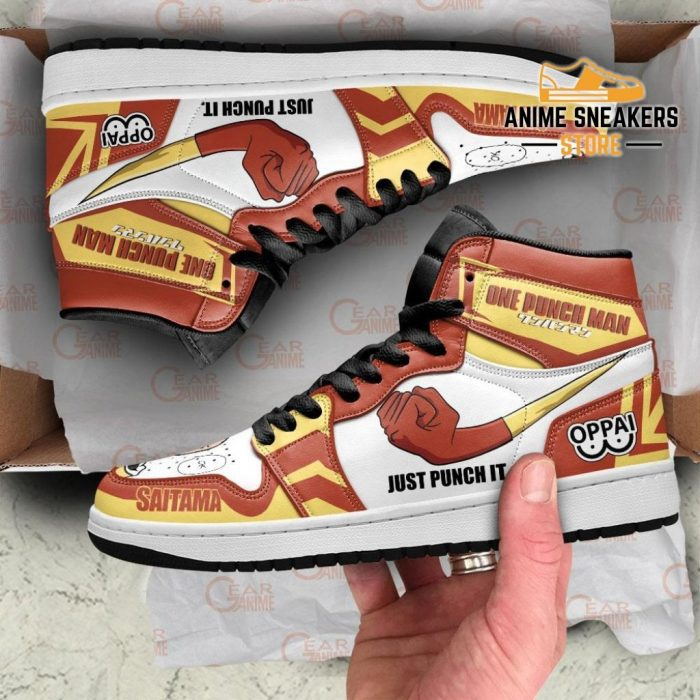 Saitama Just Punch It Sneakers One Man Anime Shoes Mn10 Jd