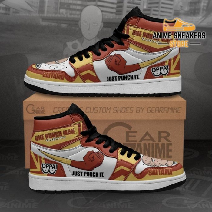Saitama Just Punch It Sneakers One Man Anime Shoes Mn10 Men / Us6.5 Jd
