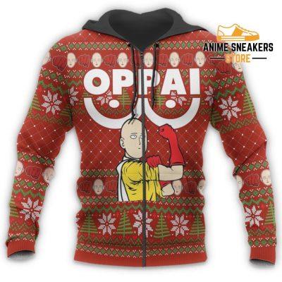 Saitama Oppai Ugly Christmas Sweater One Punch Man Anime Xmas Gift All Over Printed Shirts
