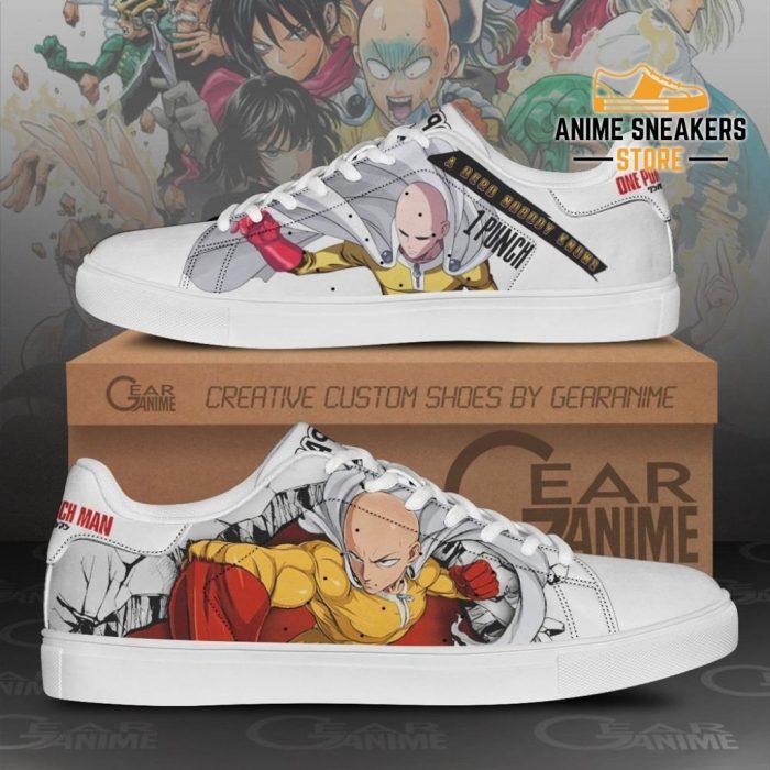 Saitama Skate Shoes One Punch Man Custom Anime Pn11 Men / Us6