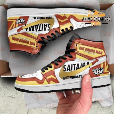 Saitama Sneakers Just Punch It One Man Anime Shoes Mn10 Jd