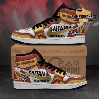 Saitama Sneakers Just Punch It One Man Anime Shoes Mn10 Men / Us6.5 Jd