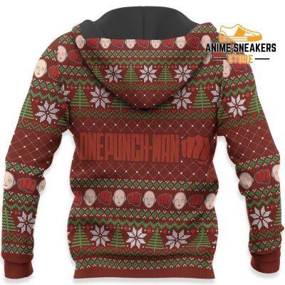 Saitama Ugly Christmas Sweater One Punch Man Anime Xmas Gift Custom Clothes All Over Printed Shirts