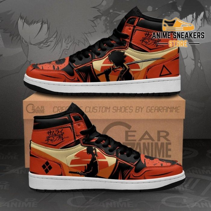 Samurai Champloo Sneakers Mugen And Jin Custom Anime Shoes Men / Us6.5 Jd