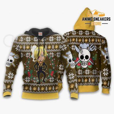 Sanji Ugly Christmas Sweater One Piece Anime Xmas Gift Va10 Hoodie / S All Over Printed Shirts