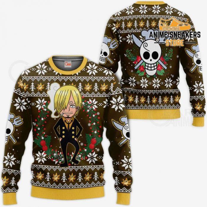 Sanji Ugly Christmas Sweater One Piece Anime Xmas Gift Va10 / S All Over Printed Shirts