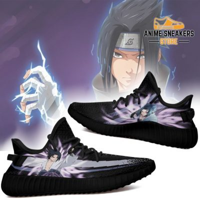 Sasuke Jutsu Yeezy Shoes Naruto Anime Fan Gift Idea Tt03 Men / Us6