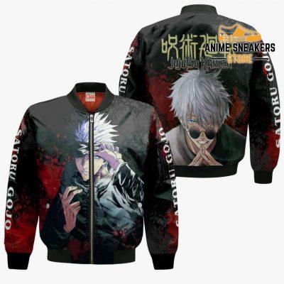 Satoru Gojo Hoodie Shirt Jujutsu Kaisen Custom Anime Jacket Bomber / S All Over Printed Shirts