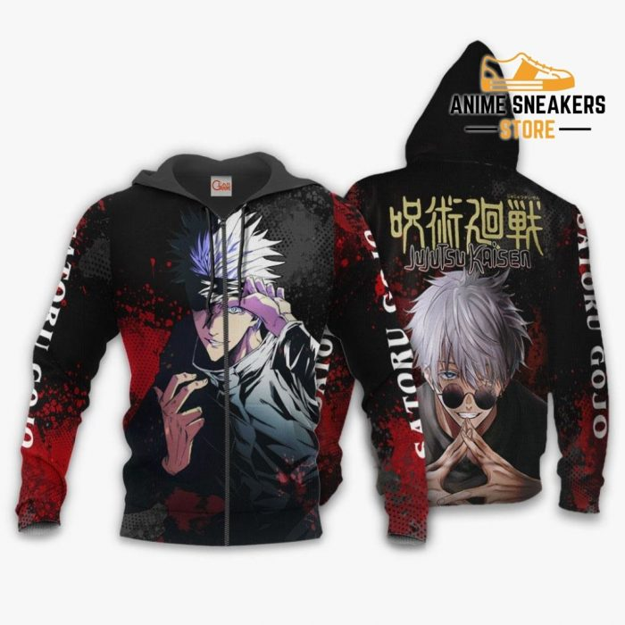 Satoru Gojo Hoodie Shirt Jujutsu Kaisen Custom Anime Jacket Zip / S All Over Printed Shirts