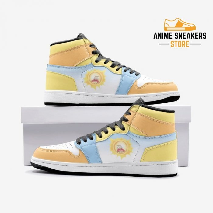 Screaming Sun Rick And Morty Custom J-Force Shoes 3 / White Mens