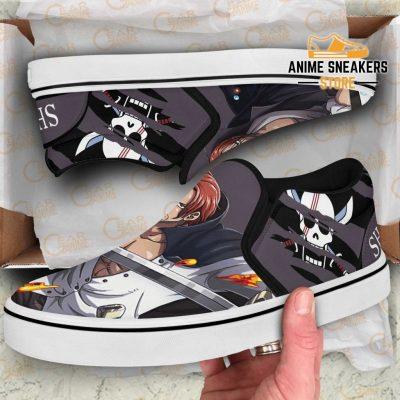 Shank Red Hair Slip On Shoes One Piece Custom Anime Slip-On