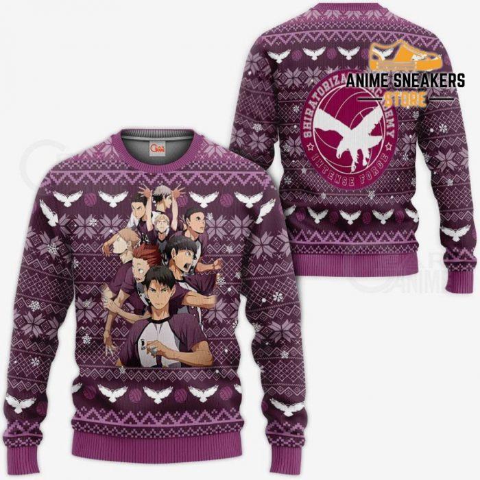 Shiratorizawa Academy Ugly Christmas Sweater Haikyuu Anime Xmas Va10 / S All Over Printed Shirts