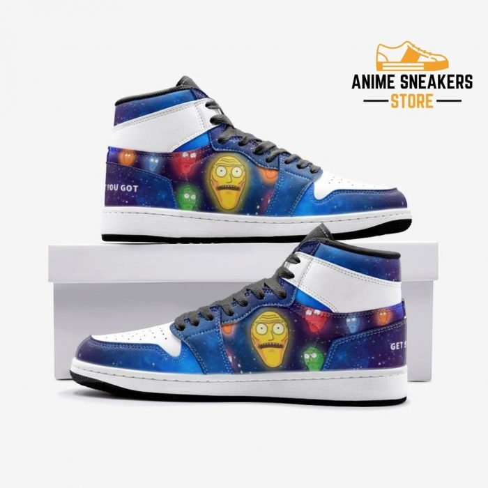 Show Me What You Got Rick And Morty Custom J-Force Shoes 3 / White Mens