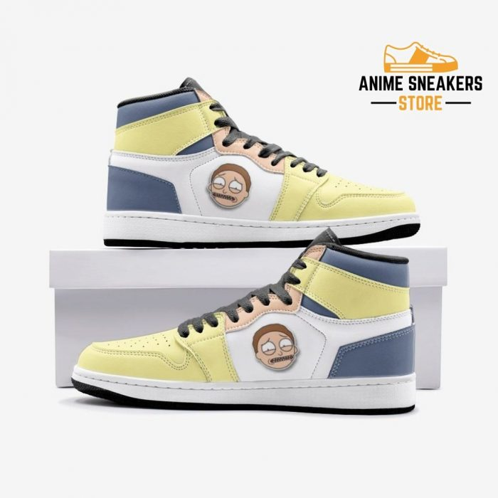 Sick Morty Rick And Custom J-Force Shoes 3 / White Mens