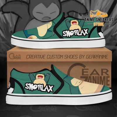 Snorlax Slip On Shoes Pokemon Custom Anime Slip-On
