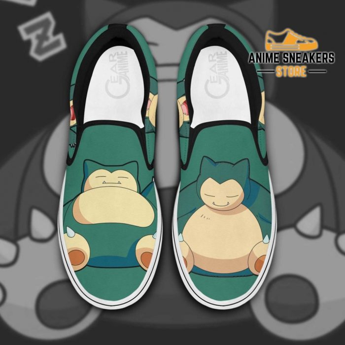 Snorlax Slip On Shoes Pokemon Custom Anime Men / Us6 Slip-On