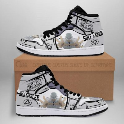 Solf J. Kimblee Fullmetal Alchemist Sneakers Anime Custom Shoes Men / US6.5 Official Fullmetal Alchemist  Merch