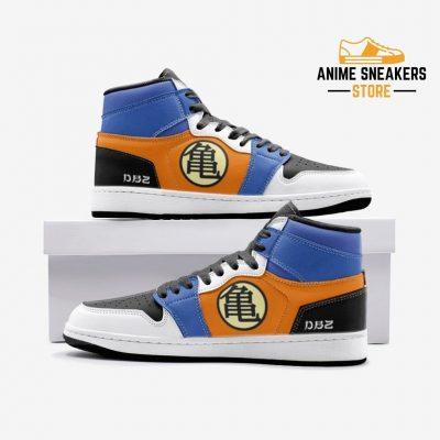 Son Goku Dragon Ball Custom J-Force Shoes 3 / White Mens