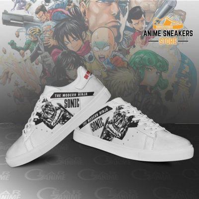 Sonic Skate Shoes One Punch Man Custom Anime Pn11