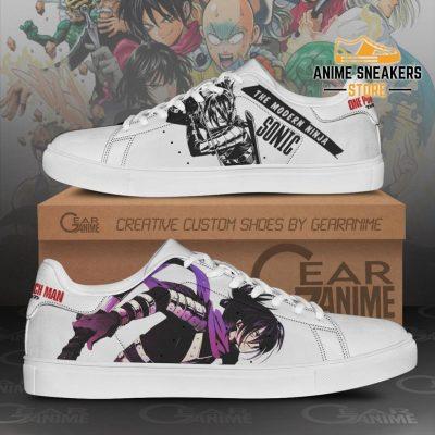 Sonic Skate Shoes One Punch Man Custom Anime Pn11 Men / Us6