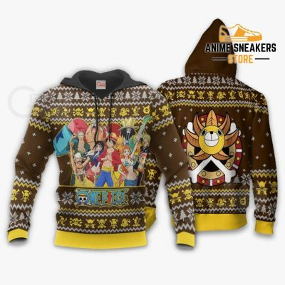 Straw Hat Pirates Ugly Christmas Sweater One Piece Anime Xmas Gift Va10 Hoodie / S All Over Printed