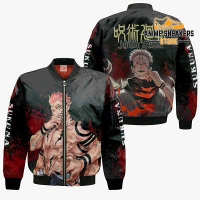 Sukuna Hoodie Shirt Jujutsu Kaisen Custom Anime Jacket Bomber / S All Over Printed Shirts