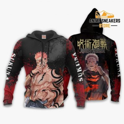 Sukuna Hoodie Shirt Jujutsu Kaisen Custom Anime Jacket / S All Over Printed Shirts