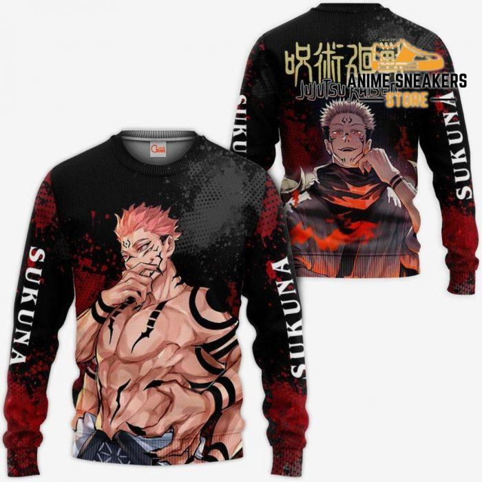 Sukuna Hoodie Shirt Jujutsu Kaisen Custom Anime Jacket Sweater / S All Over Printed Shirts