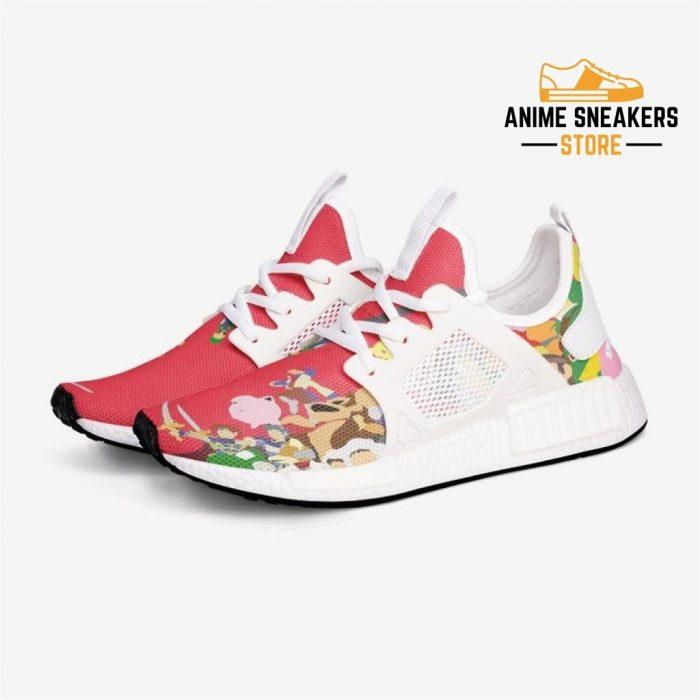 Super Smash Bros Custom Nomad Shoes 3 / White Mens