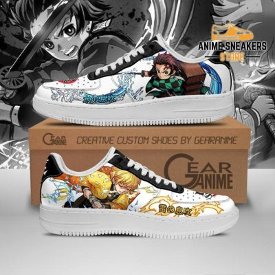 Tanjiro And Zenitsu Sneakers Demon Slayer Anime Shoes Pt10 Men / Us6.5 Air Force