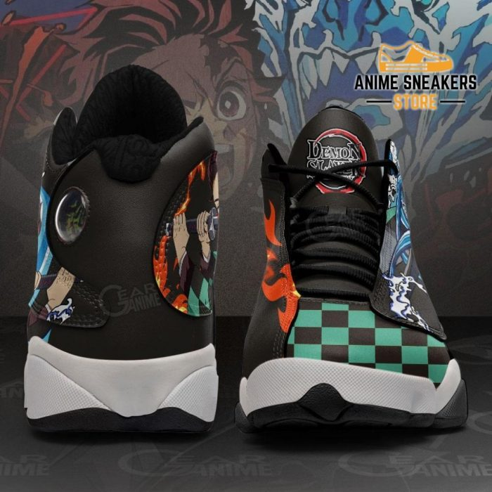 Tanjiro Water And Fire Sneakers Demon Slayer Anime Shoes Mn10 Jd13