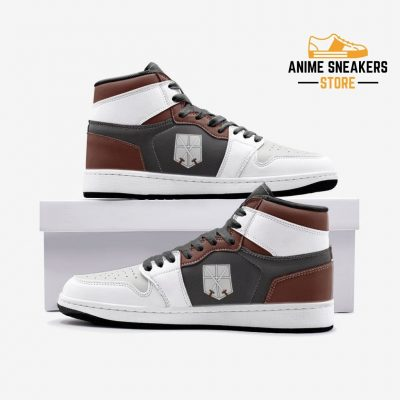 The Training Corps Attack On Titan Custom J-Force Shoes 3 / White Mens