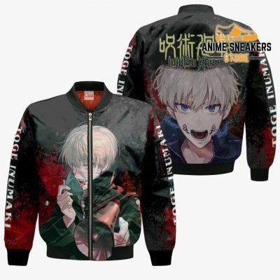Toge Inumaki Hoodie Shirt Jujutsu Kaisen Custom Anime Jacket Bomber / S All Over Printed Shirts