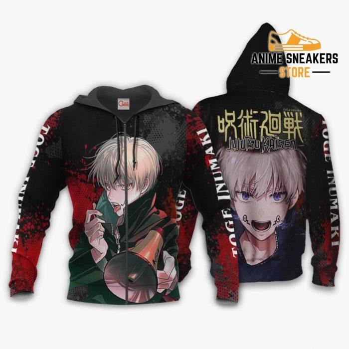 Toge Inumaki Hoodie Shirt Jujutsu Kaisen Custom Anime Jacket Zip / S All Over Printed Shirts