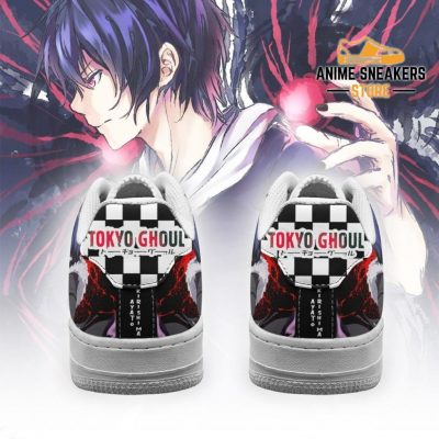 Tokyo Ghoul Ayato Sneakers Custom Checkerboard Shoes Anime Air Force